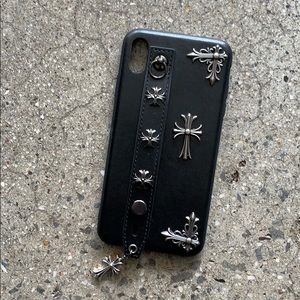 Accessories - Chrome Heart inspired vegan leather phone case